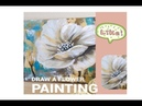 HOW TO make an AMAZING Abstract Flower Painting Demonstration Acrylic Technique by Julia Kotenko