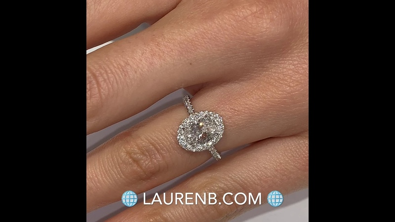 1.3 ct Oval Diamond Invisible Gallery Halo Ring