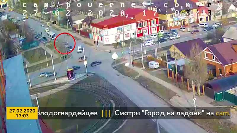 ДТП авария г Волжский пр Ленина ул Молодогвардейцев 27 02 2020 17 03