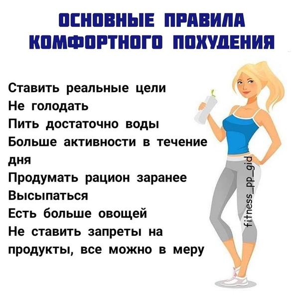 Реальные Правила Похудения.