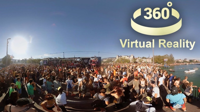 Street Parade 2016 Zurich in Virtual Reality VR 360 degrees video Zürich Switzerland