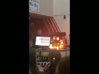 В челябинском кинотеатре Импульс произошел пожар