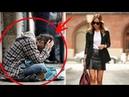 Он всегда клянчил деньги у богатенькой девушки возле ее ресторана. Однажды она решила его прогнать