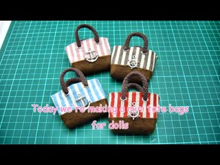 DIY Miniature Doll Mini Tote Bag - No Sew