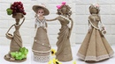 5 Beautiful Jute craft doll | How to decorate doll from jute rope