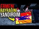 Erməni BAYRAĞINI TAPDALIYIB YANDIRDIM ( CAVAB VİDEOSU ! )