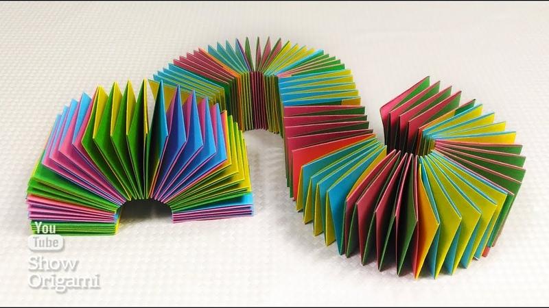 Игрушка антистресс Игрушка пружинка из бумаги