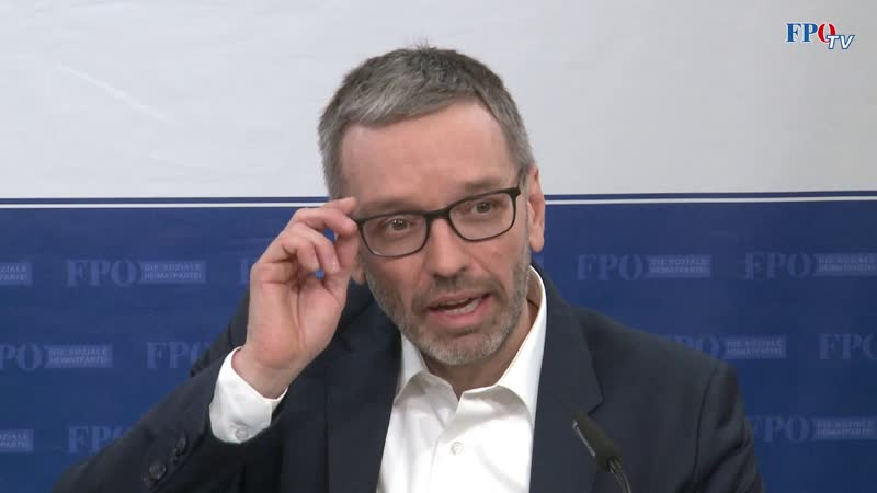 FPÖ TV Wegen Flüchtlingspolitik Herbert Kickl kündigte Strafanzeige wegen Amtsmissbrau
