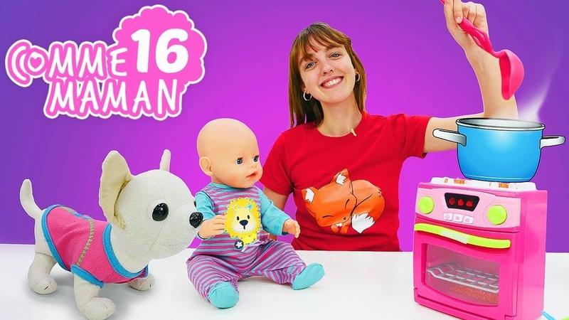 Vidéo pour enfants. Comme maman № 16 : une soupe pour le bébé born Emily. Jeu pour les filles
