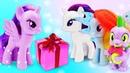 Литл Пони забыли про День рождения Искорки! Мультик из игрушек - Машины сказки для детей