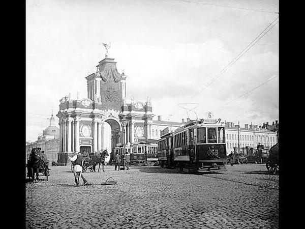 Москва, 1927г. Первые автобусы и трамваи пришли на рабочие окраины столицы кинохроника