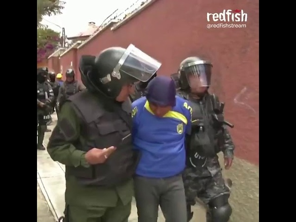 Redfish on Twitter Bolivian security forces and racist right