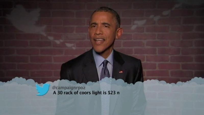 Обама читает гневные твиты хейтеров