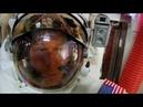 Astronaut's helmet takes on water during spacewalk