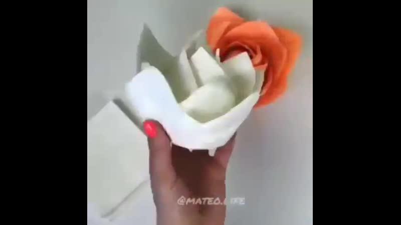 Как сложить салфетки