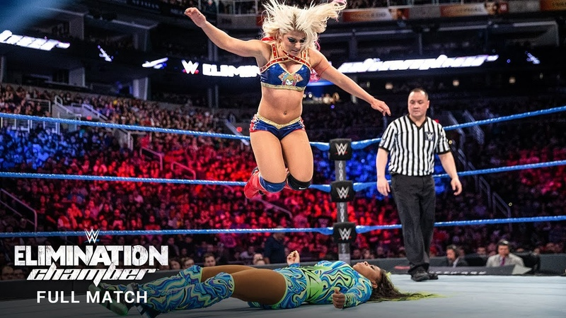 FULL MATCH Alexa Bliss vs Naomi SmackDown Women's Title Match WWE Elimination Chamber 2017