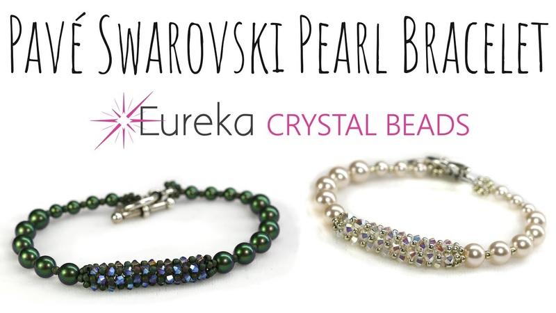 Create Leah's Pavé Swarovski Crystal Pearl Bracelet