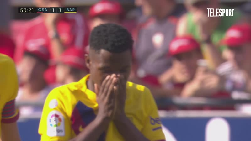 «Осасуна» — «Барселона». Гол Ансу Фати