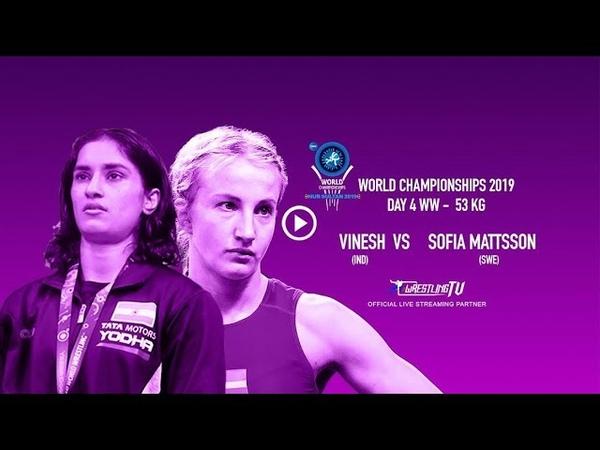 UWW World Championship 2019 Day 4 Vinesh wins opener Thrashes Sofia Mattsson
