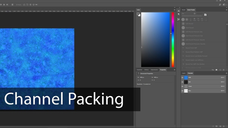 Textures - Channel Packing with Photoshop