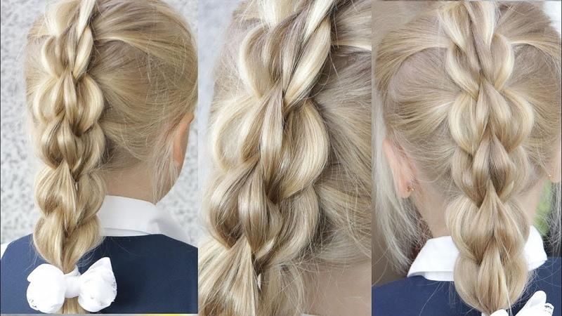 Коса БЕЗ ПЛЕТЕНИЯ👍😍 Объемная даже на не густых волосах