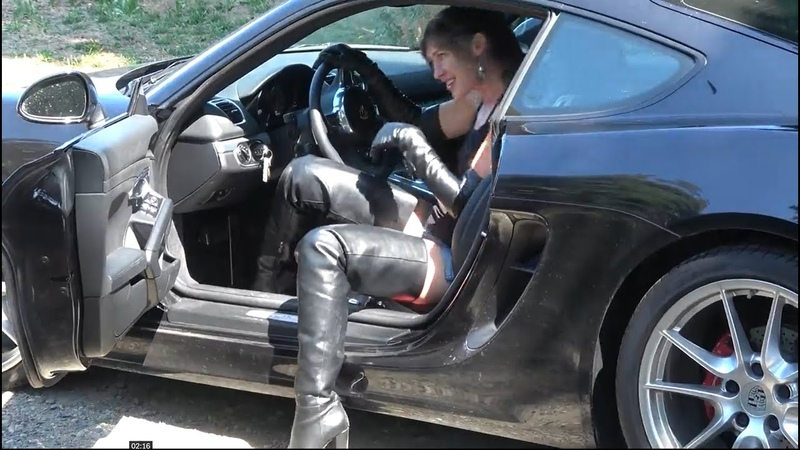 Bootkrazy Porsche Tour in Leather High Heels