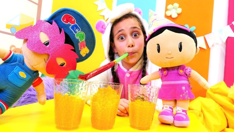 Unicorn Pepee ve Şila ile doğum günün partisi yapıyor Çizgi film oyuncakları