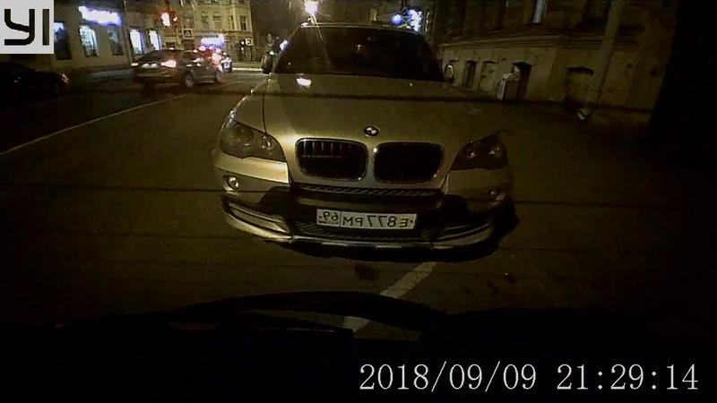YI Mirror Dash Camera. Съемка ночью через тонировку 15%.