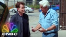 Jay Leno's Garage Full Opening Charlie Sheen Rides Shotgun With Jay CNBC Prime