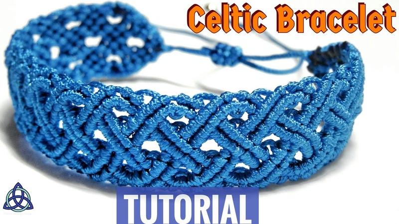 Macrame Celtic Blue Sea Bracelet Tutorial | Friendship Bracelet DIY