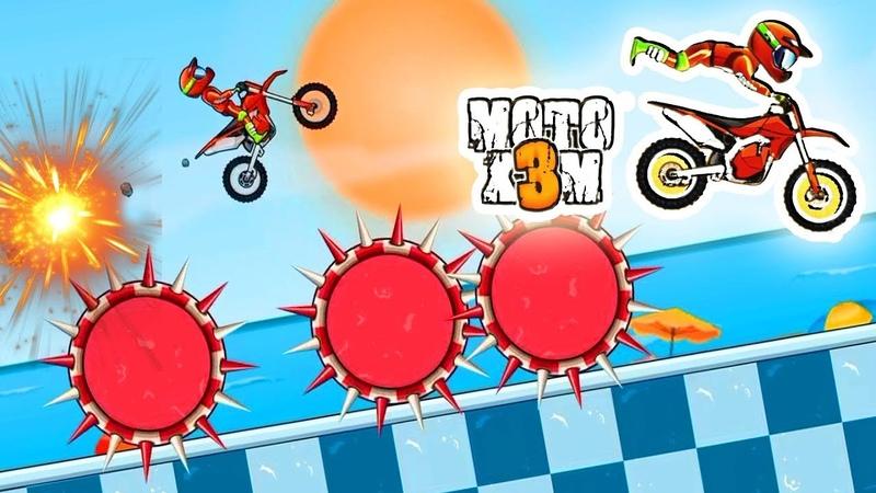 Moto X3M Bike Race Game 10 Level The Best Walkthrough Gameplay