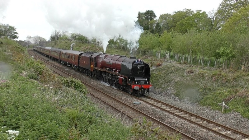 46233 Duchess of Sutherland slips and slogs up Hemerdon with Day 1 and 2 of The Great Britain XII