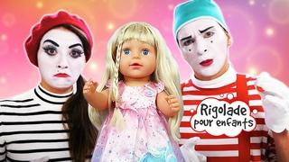 Vidéo drôle et amusante avec les clowns. Rigolade pour enfants.