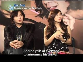 """[Star Date] Jang Keun-suk & Kim Ha-neul on Movie """"You're My Pet"""""""