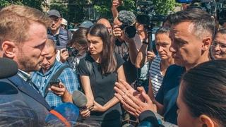 Убийство Сармата и нападение на Гандзюк в Киеве под зданием МВД люди требовали наказать зло