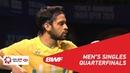 QF   MS   PARUPALLI Kashyap (IND) vs WANG Tzu Wei (TPE)   BWF 2019