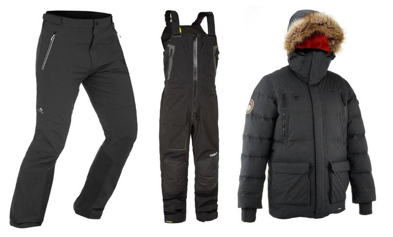 Зимние брюки, полукомбинезон и куртка