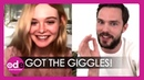 Nicholas Hoult and Elle Fanning Couldn't Stop Giggling Together on Set for 'The Great'