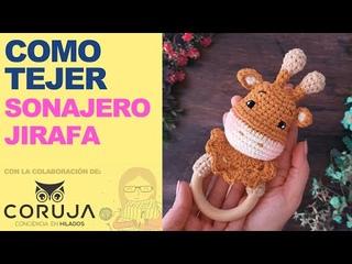 Sonajero Jirafa Crochet - Aprende a tejer este sonajero de Jirafa en Amigurumi paso a paso ENG SUBS