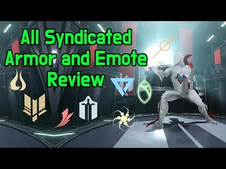 Warframe. All Syndicated Armor and Emote Review.