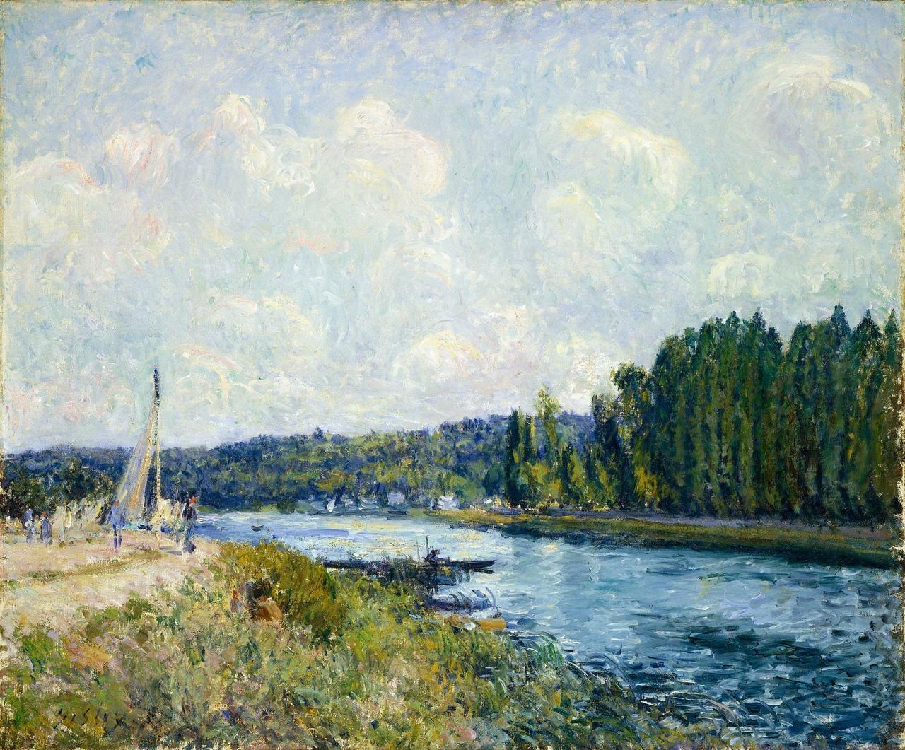 """Альфред Сислей """"Берега Уазы"""", 1877-1878"""