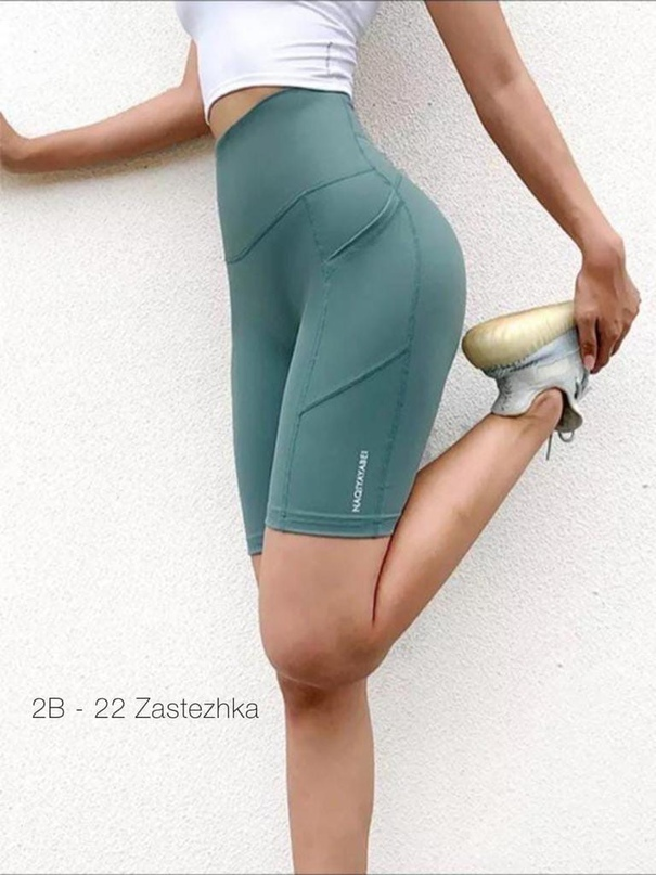 2-В-22 New Collection 2021 Получили велосипедки     Цвет: чёрный и ментол  Ткань: бифлекс Длина 46 см.  Классные велосипедки для занятия спортом, завышенная талия Производство Пекин