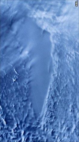 Радиолокационное изображение, полученное со спутника RADARSAT.