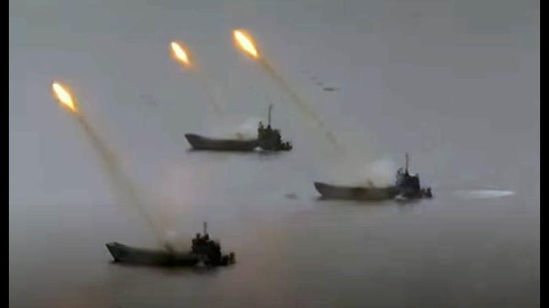 Применение Змеев Горынычей с десантных кораблей показали на видео
