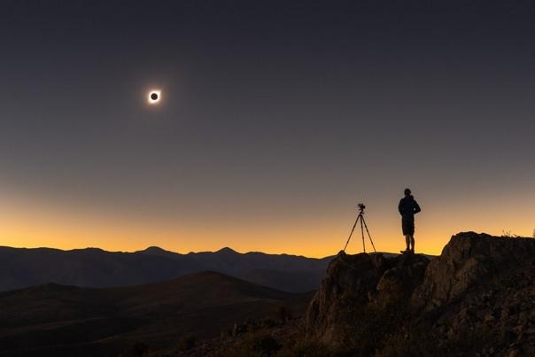 Солнечное затмение в Ла-Серена, регион Кокимбо, Чили Фото: Alyn Wallace