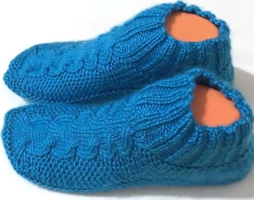 Следки-носочки на двух спицах. Описание, фото, схема