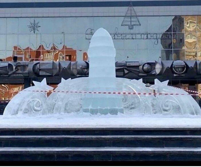 Пермь, ледяная скульптура. Фото из открытых источников (Инстаграм)
