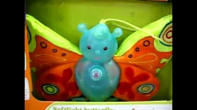 Quaps Музыкальная игрушка ночник Бабочка со светом c рождения