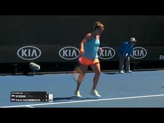 Rodina v Pavlyuchenkova match highlights (1R) _ Australian Open 2017