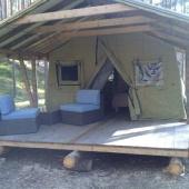 Теплый шатер с террасой